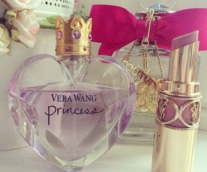 perfume, princess, and lipstick image