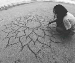 beach, art, and black and white image