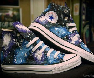 converse, galaxy, and shoes image