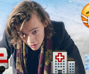accident, hospital, and Harry Styles image