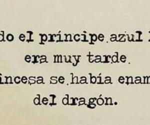 princess, love, and dragon image