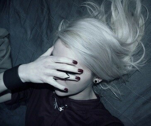 f, grunge, and white hair image