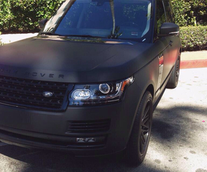 black, car, and range rover image
