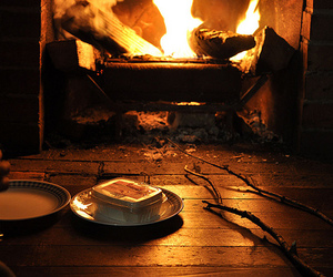 cabin, marshmallows, and s'mores image