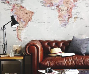 map, room, and travel image