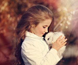 bunny and little girl image