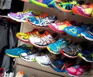 asics, besties, and colorful image