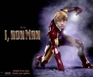 harry potter, iron man, and ron image