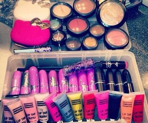 pink, cosmetics, and glam image