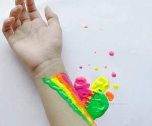 rainbow and paint image