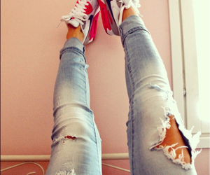 nike, jeans, and shoes image