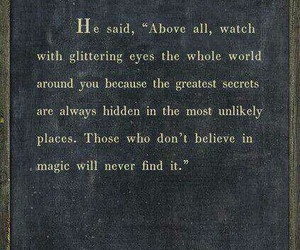 believe, magic, and quote image