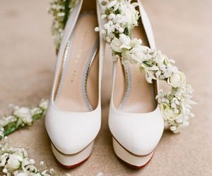 bridal, shoes, and cute image