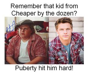 funny, puberty, and cheaper by the dozen image