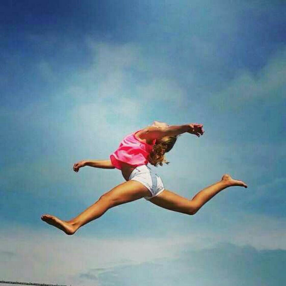 fly, jump, and girl image