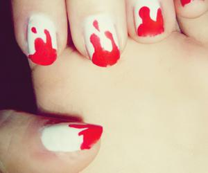 blood, halloween nails, and Halloween image
