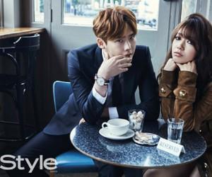 park shin hye, lee jong suk, and couple image