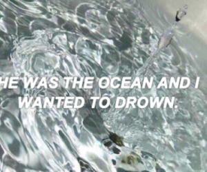 grunge, ocean, and quote image