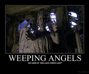 angel, weeping angels, and doctor who image