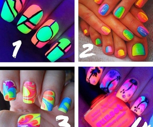 nails, glow in the dark, and nail polish image