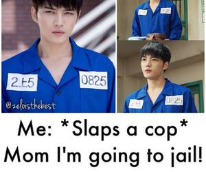 cop, funny, and jail image