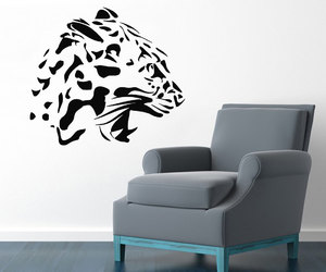 home decor, wall decals, and wild animals image