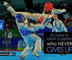 taekwondo and never give up image