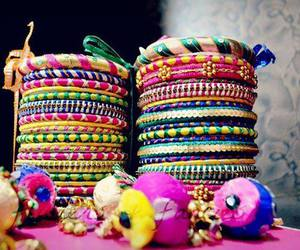 accessories, bangles, and colorful image