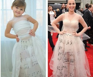 dress, katy perry, and Paper image