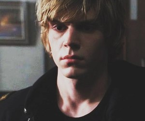 evan peters, girl, and ahs image
