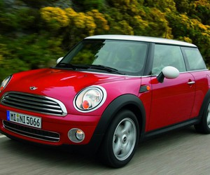 car, mini cooper, and red image