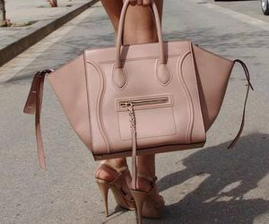 bag, glamour, and pale pink image