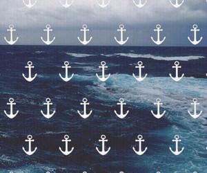 wallpaper, sea, and anchor image