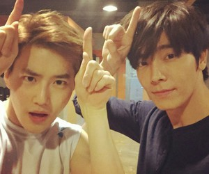 exo, donghae, and suho image
