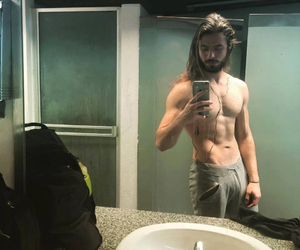 abs, boy, and gym image