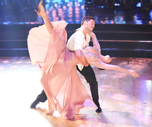 rumer willis, dwts, and val chmerkovskiy image