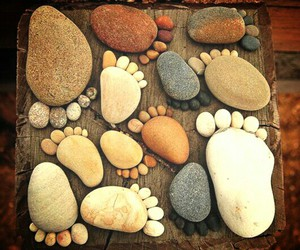 feet, stones, and inspiration image