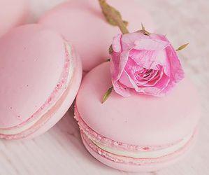 macaron, pink, and romantic image