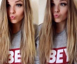 obey, girl, and blonde image