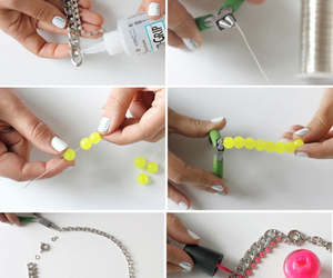 necklace, diy, and ideas image