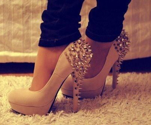 heels, spikes, and cute image