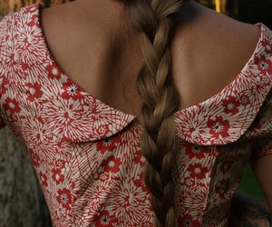 braid, dress, and fashion image