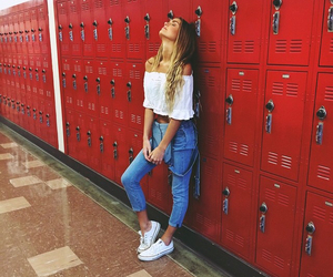 girl, college, and fashion image