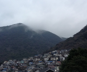 clouds, mountain, and rainy day image