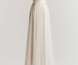 dress, weeding, and white image