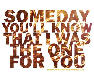 know, one, and someday image
