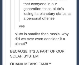 tumblr, funny, and pluto image