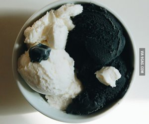 black, food, and white image