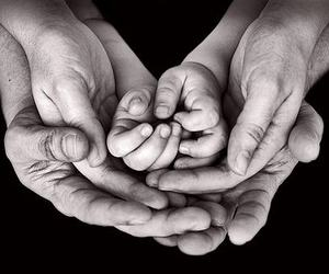 baby, black, and fingers image