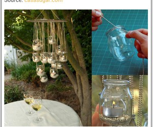 candles, chandelier, and diy image